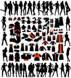 Silhouette of people Royalty Free Stock Images