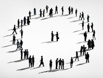 Silhouette People and Business Agreement Concepts Royalty Free Stock Image