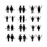 Silhouette people icons illustration Royalty Free Stock Photo