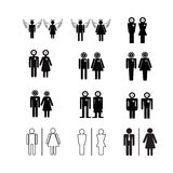 Silhouette people icons illustration Stock Photo