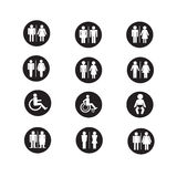 Silhouette people icons illustration Royalty Free Stock Photography