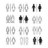 Silhouette people icons illustration Royalty Free Stock Photos