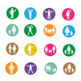 Silhouette people icons illustration Royalty Free Stock Image