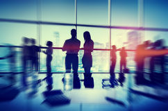 Silhouette People Meeting Cityscape Team Concept Royalty Free Stock Image