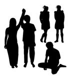 Silhouette of people Royalty Free Stock Photo