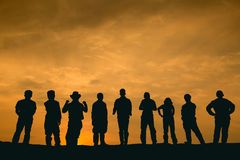 Silhouette people Stock Photography