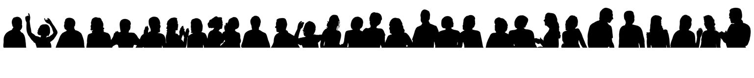 Silhouette people. Vector  silhouette of a crowd of people, portrait collection Stock Image