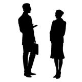 Silhouette of people . Vector illustration Royalty Free Stock Photo