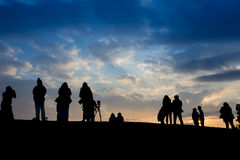 Silhouette of people Stock Photos