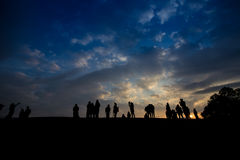 Silhouette of people Stock Image