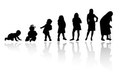 Silhouette person. A group of silhouette of same person Stock Image