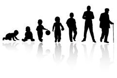 Silhouette person. A group of silhouette of same person Stock Images