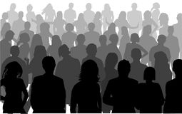 Silhouette person. Isolated silhouettes on the white background Royalty Free Stock Photography