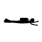 Silhouette of person diving design Stock Images