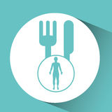 Silhouette person food icon design Stock Image