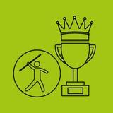 Silhouette person javelin winner sport Stock Photography