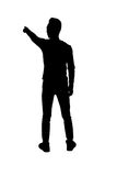 Silhouette Person. Man silhouette on white background Stock Image