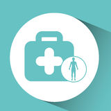 Silhouette person medical first aid icon design. Vector illustration eps 10 Royalty Free Stock Photo