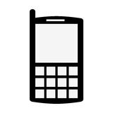 silhouette personal communication device icon Royalty Free Stock Images