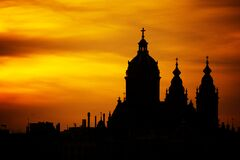 Silhouette Photo of Church Royalty Free Stock Image