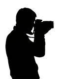 Silhouette of photograph. Isolated on white background royalty free stock photo