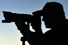 Silhouette of Photographer Stock Images