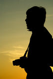 Silhouette photographer. This is silhouette images of photographer at thailand stock photo