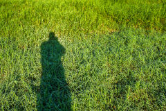 Silhouette of photographer Royalty Free Stock Image