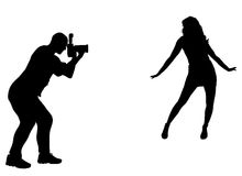 Silhouette photographer Royalty Free Stock Photos