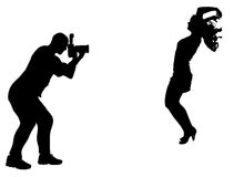 Silhouette photographer Stock Photography