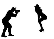 Silhouette photographer Stock Image