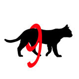 Silhouette pictogram Cats have 9 lives Stock Photography