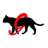 Silhouette pictogram Cats have 9 lives  Stock Photos