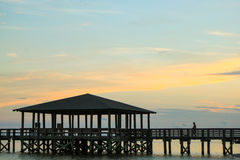 Silhouette Pier Royalty Free Stock Photos
