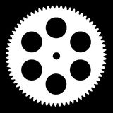 Silhouette pinion, isolated on black background Stock Image
