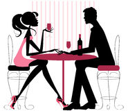 Couple Sharing Romantic Dinner Royalty Free Stock Images