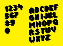 Silhouette pixel alphabet Stock Photo