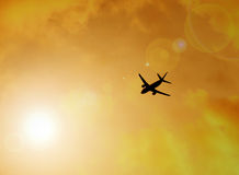 Silhouette of plane Royalty Free Stock Images