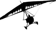 Silhouette plane. One plane silhouette stock illustration