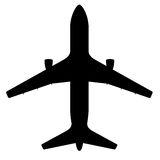 Silhouette of Plane Stock Image