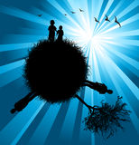 Silhouette of the planet Stock Photo