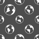 Silhouette planet earth pattern Stock Photos