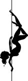 Silhouette of Pole Dancer Royalty Free Stock Photos