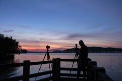 Silhouette Potographer Stock Photos