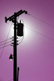 Silhouette Powerlines Royalty Free Stock Images