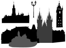 Silhouette of Prague Royalty Free Stock Image