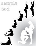 Silhouette pregnant woman Royalty Free Stock Photography