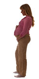 Silhouette of pregnant woman Royalty Free Stock Photo