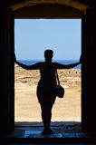 Silhouette of pretty girl Royalty Free Stock Image