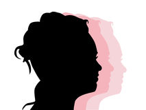Silhouette of a profile Royalty Free Stock Photos